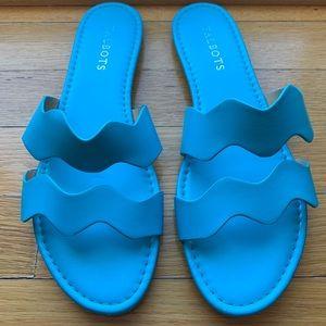 Blue sandals Talbots